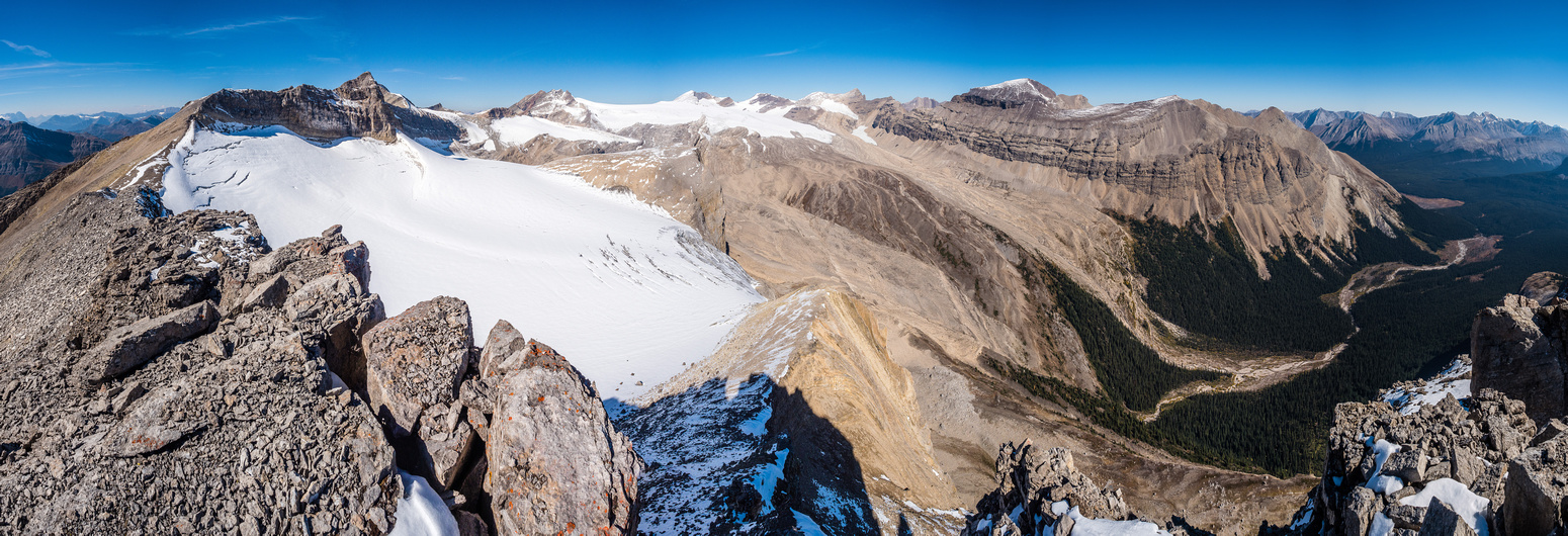 The views from Pipestone Towers are almost better than from Pipestone - the Drummond Icefield views certainly are.