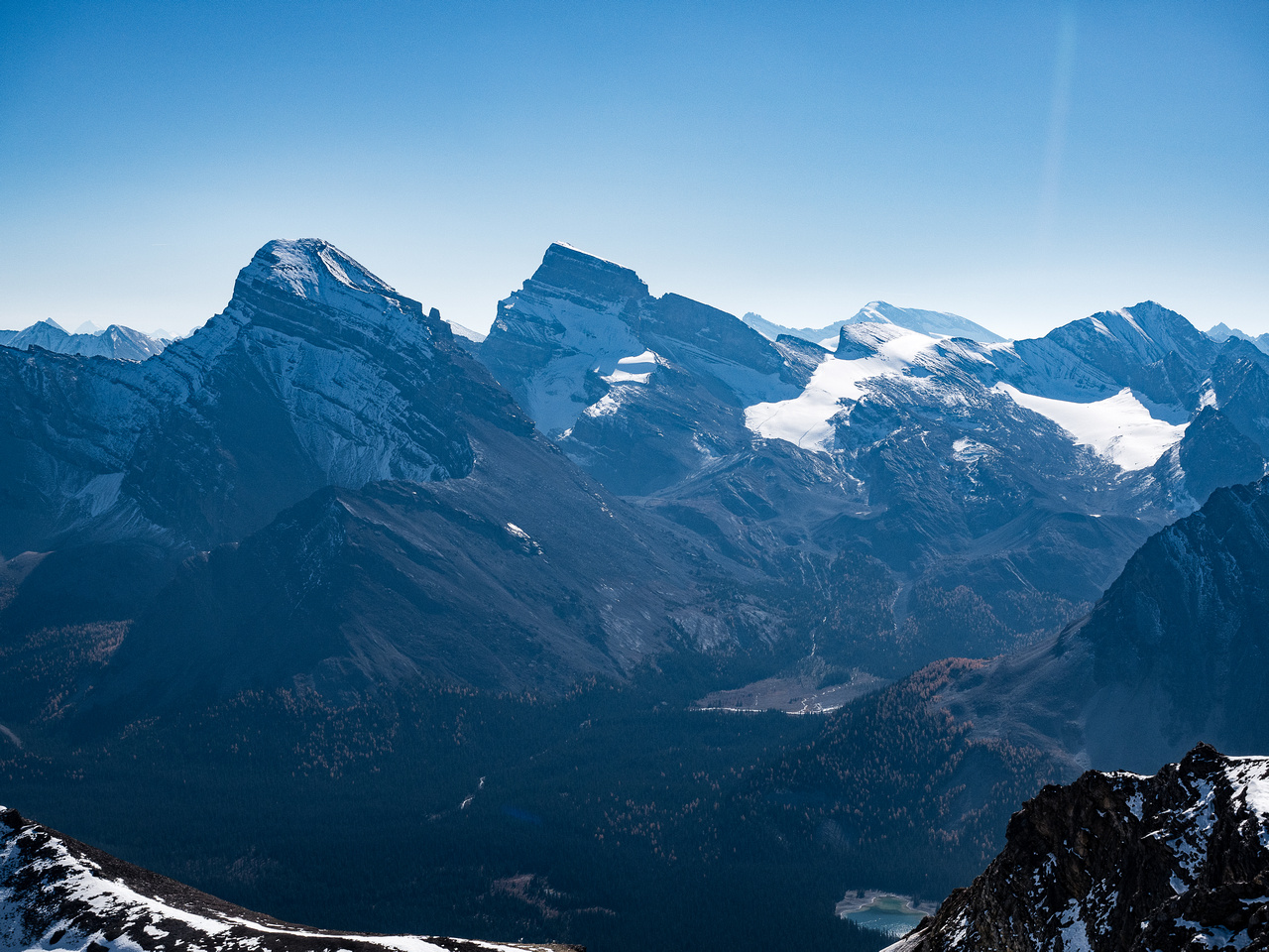 Douglas, St. Bride and Lychnis are impressive Skoki peaks that also see very few ascents.