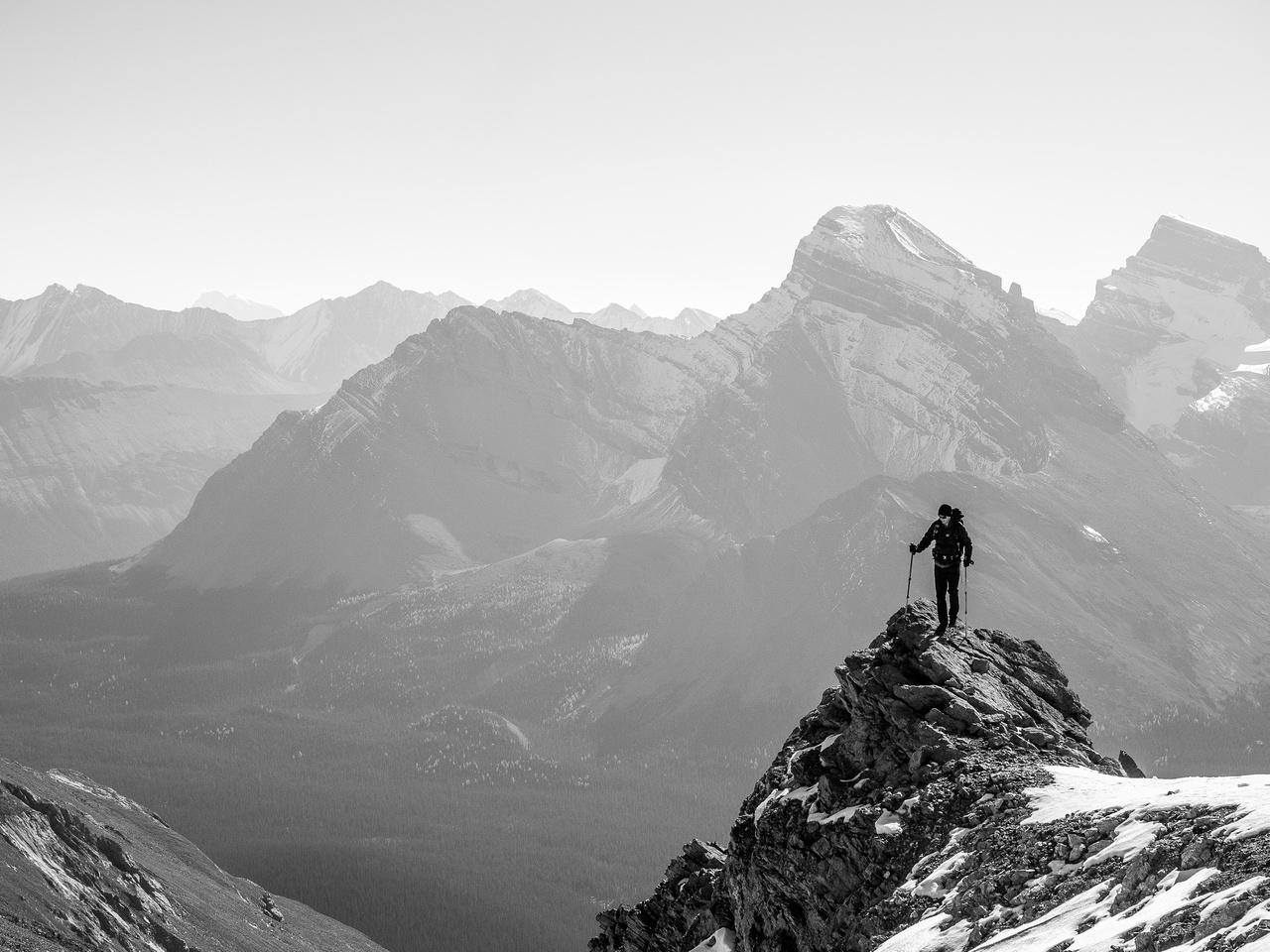 Phil on the summit ridge.
