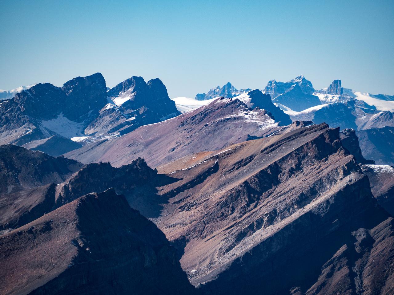 Gazing far north towards Mount Murchison.