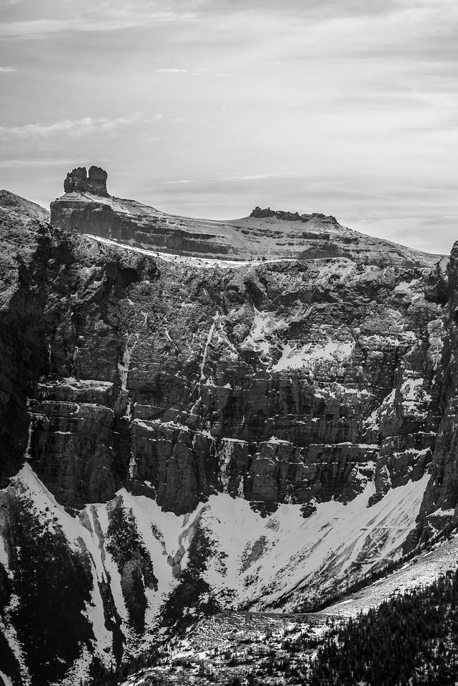 Impressive views of Castle Peak.