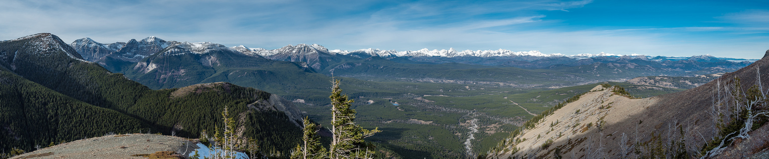 We finally top out near the ridge with the Whistler Lookout at far left.