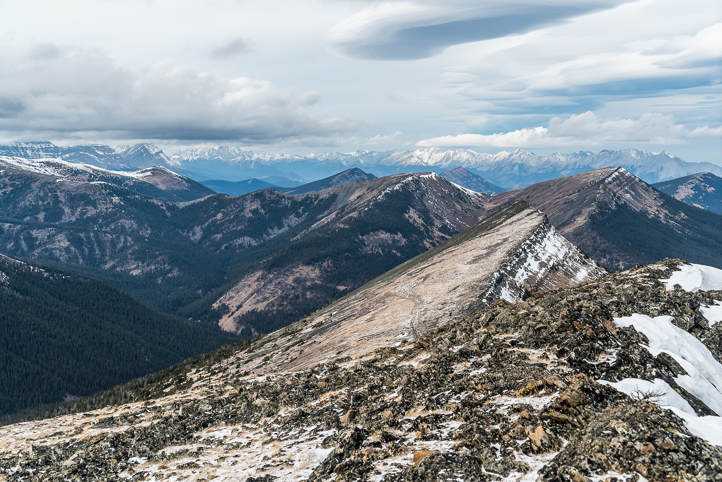 Looking northwest over the north end of Monad towards Mount Armstrong.