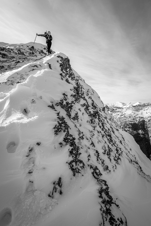 Mild exposure on the ridge.
