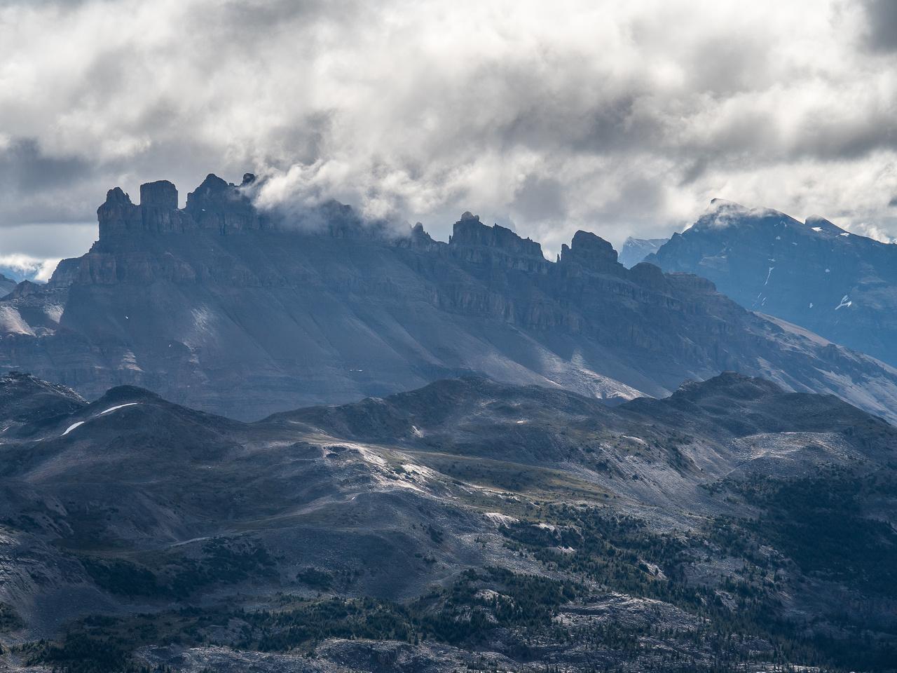 Dolomite Peak is also very distinctive.