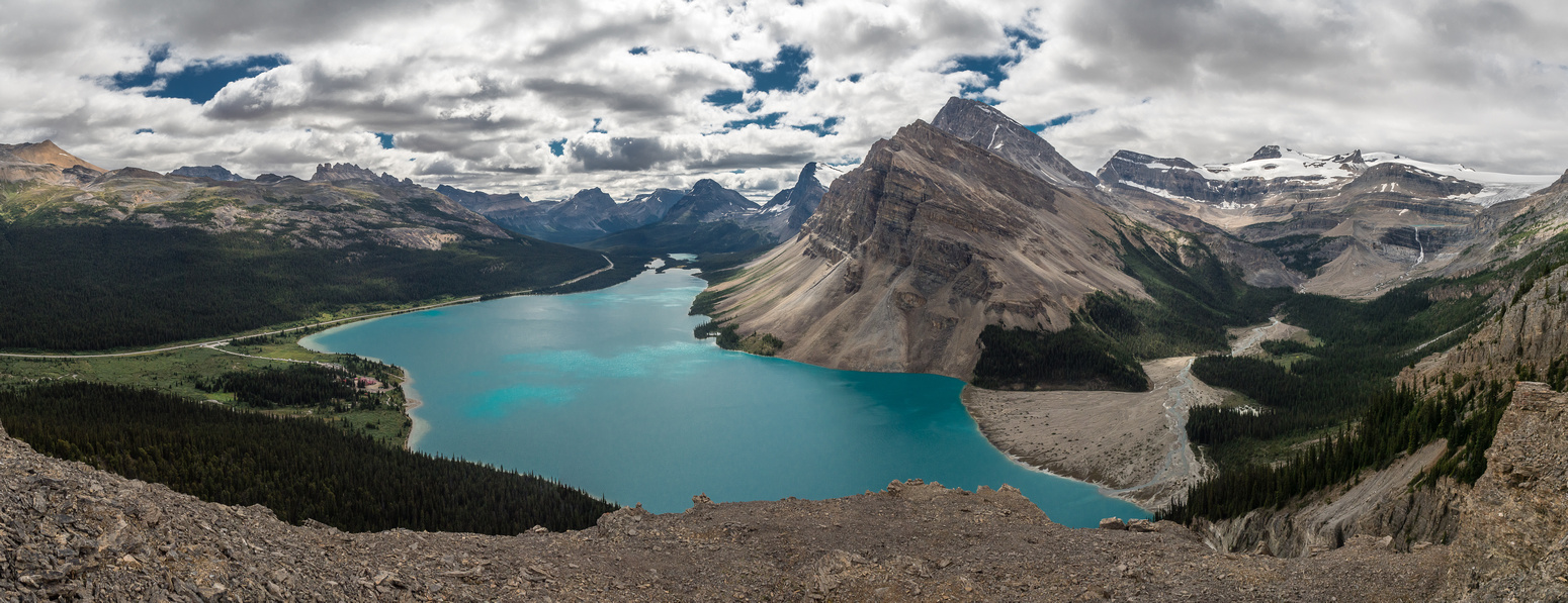 Can't get enough of the views over Bow Lake even though it's getting cloudier.