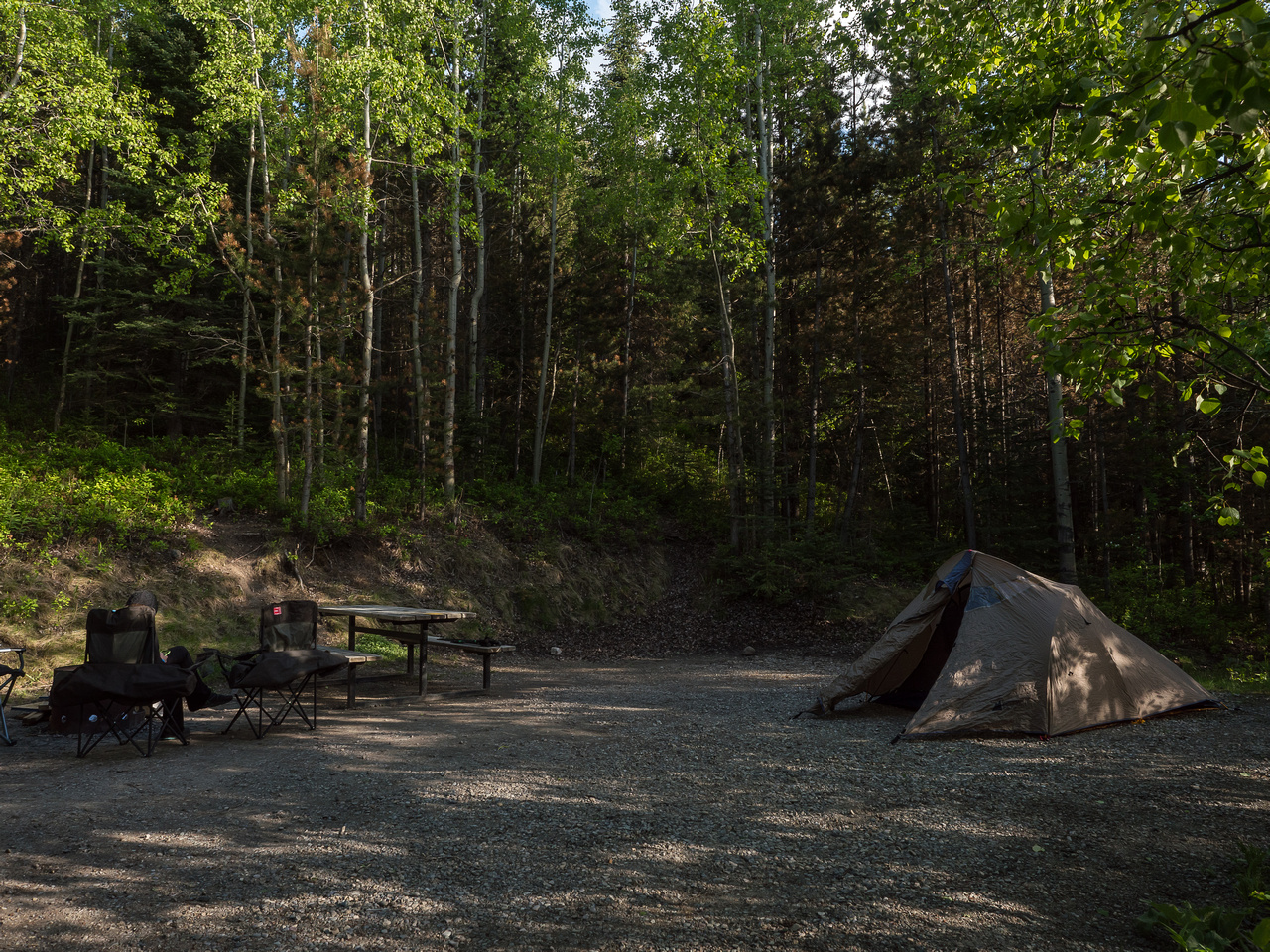 A great campsite at Beaver Mines Lake.