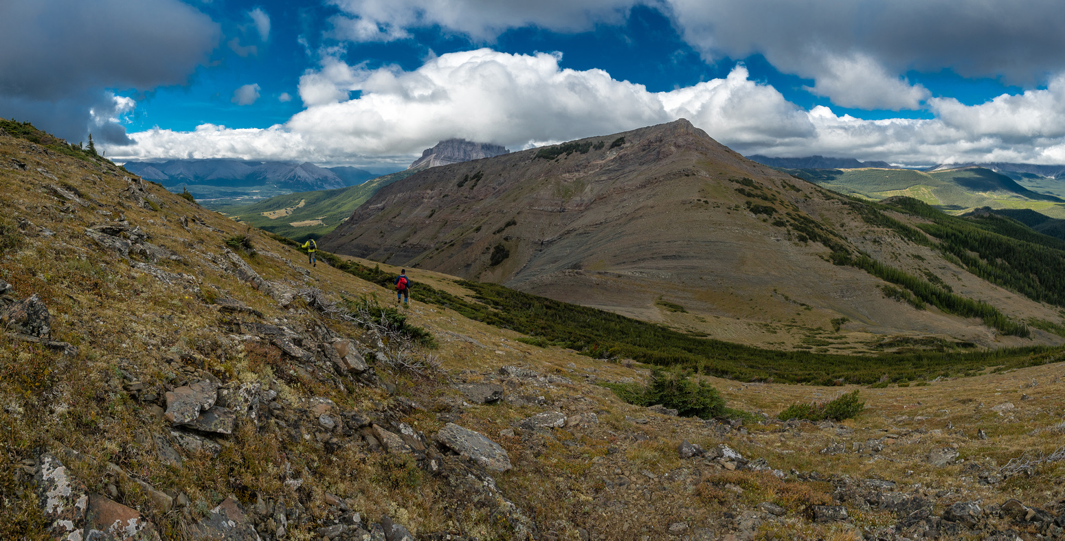 Starting our descent towards Ma Butte.