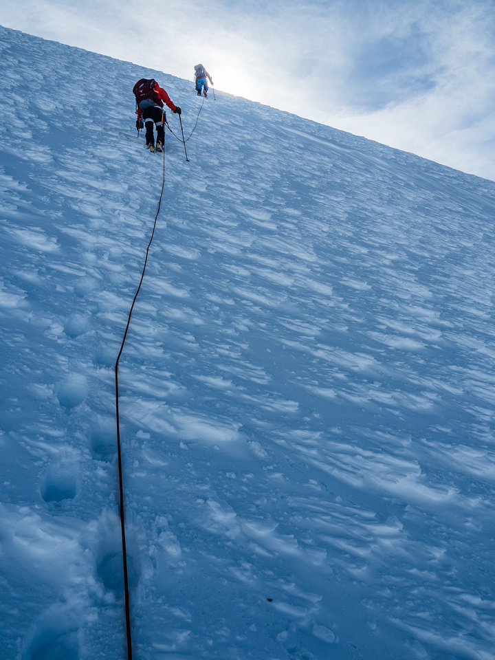 There are about 4 or 5 places where you might think you're topping out only to be disappointed when you crest a steep roll and see more climbing ahead.