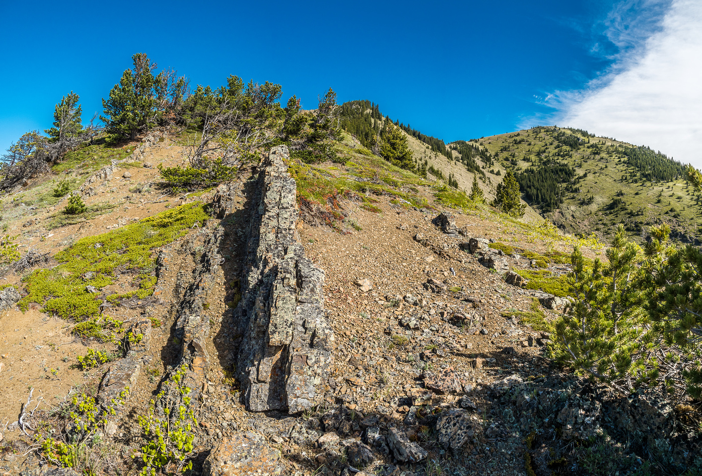Interesting rock formations on the ridge.