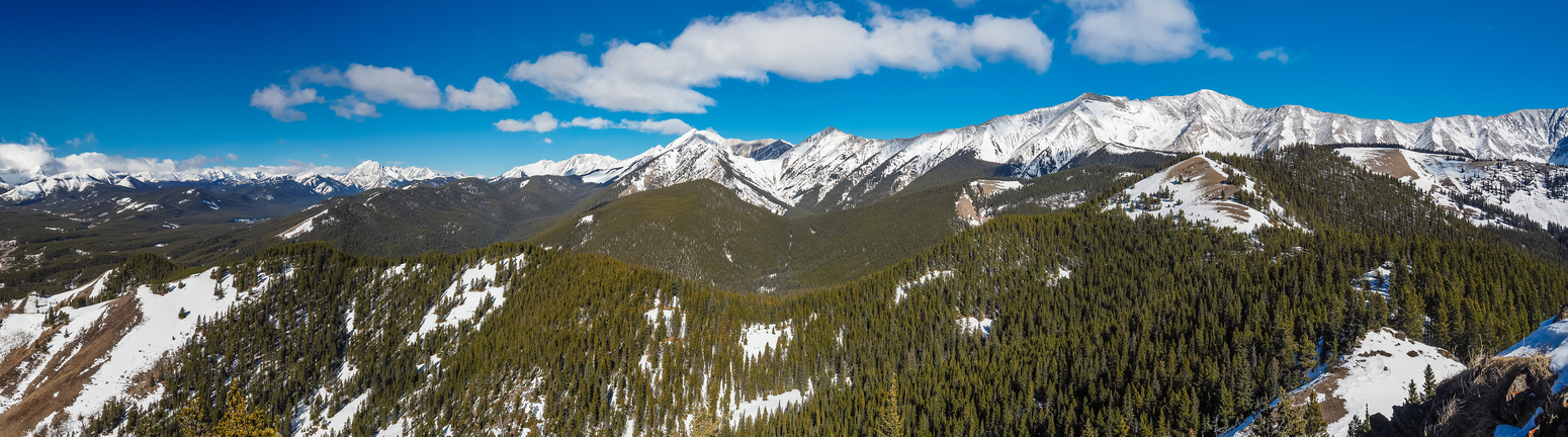 Looking north off the second summit - the third and connecting ridge at right with Holy Cross (R) and Head (C) in the background.