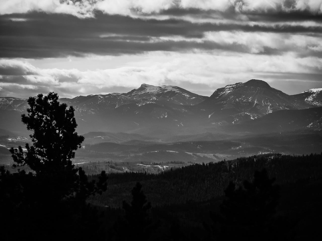 The best view I got towards the Highwood Range