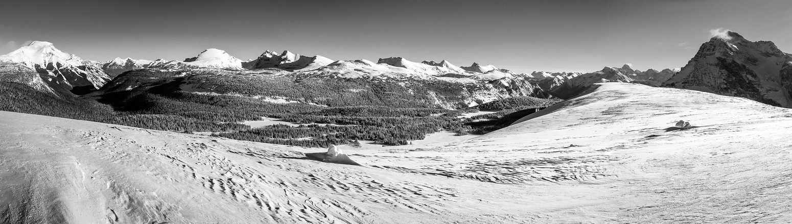 One last looking back. From L to R, Bourgeau, Eagle, Howard Douglas, Brewster, Twin Cairns, Mount Assiniboine, The Monarch.