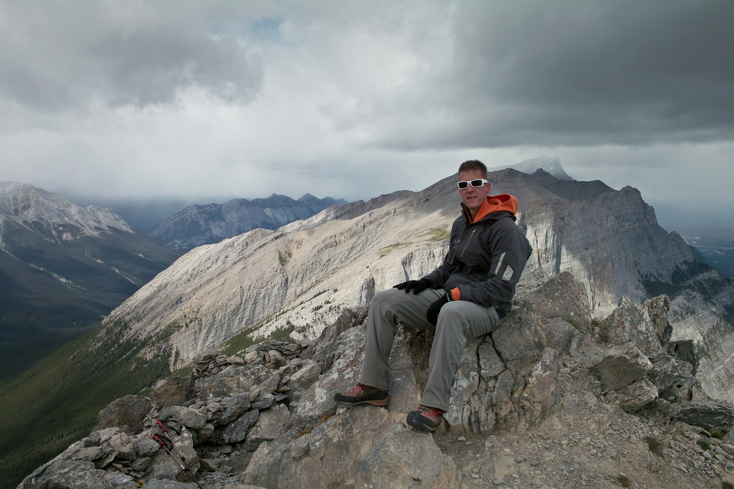 Vern on the summit of Ha Ling.