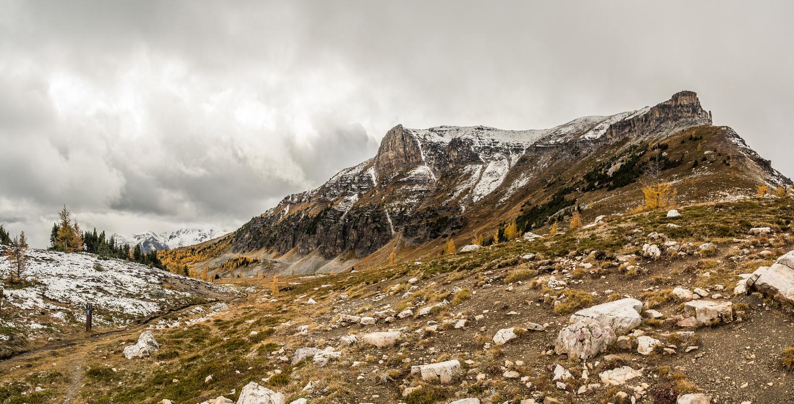At Citadel Pass with Citadel Peak rising above.