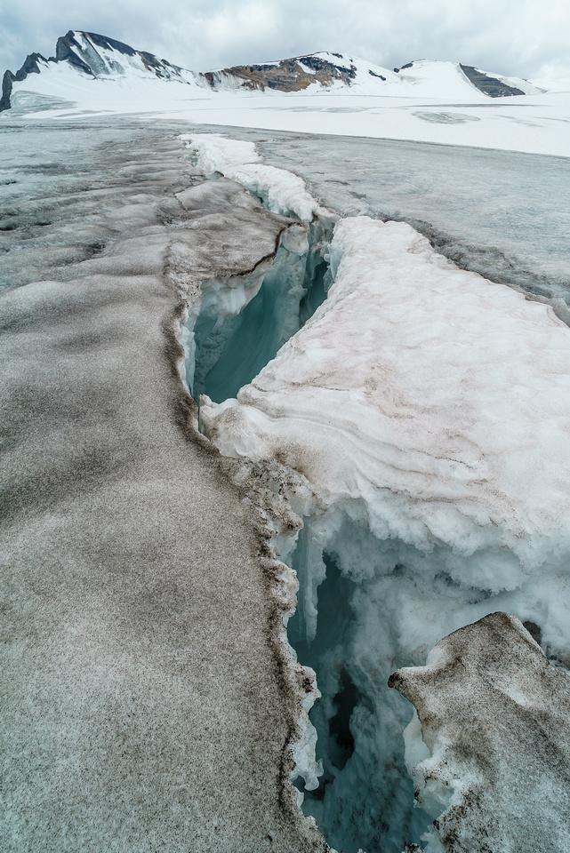 Another deep crevasse.