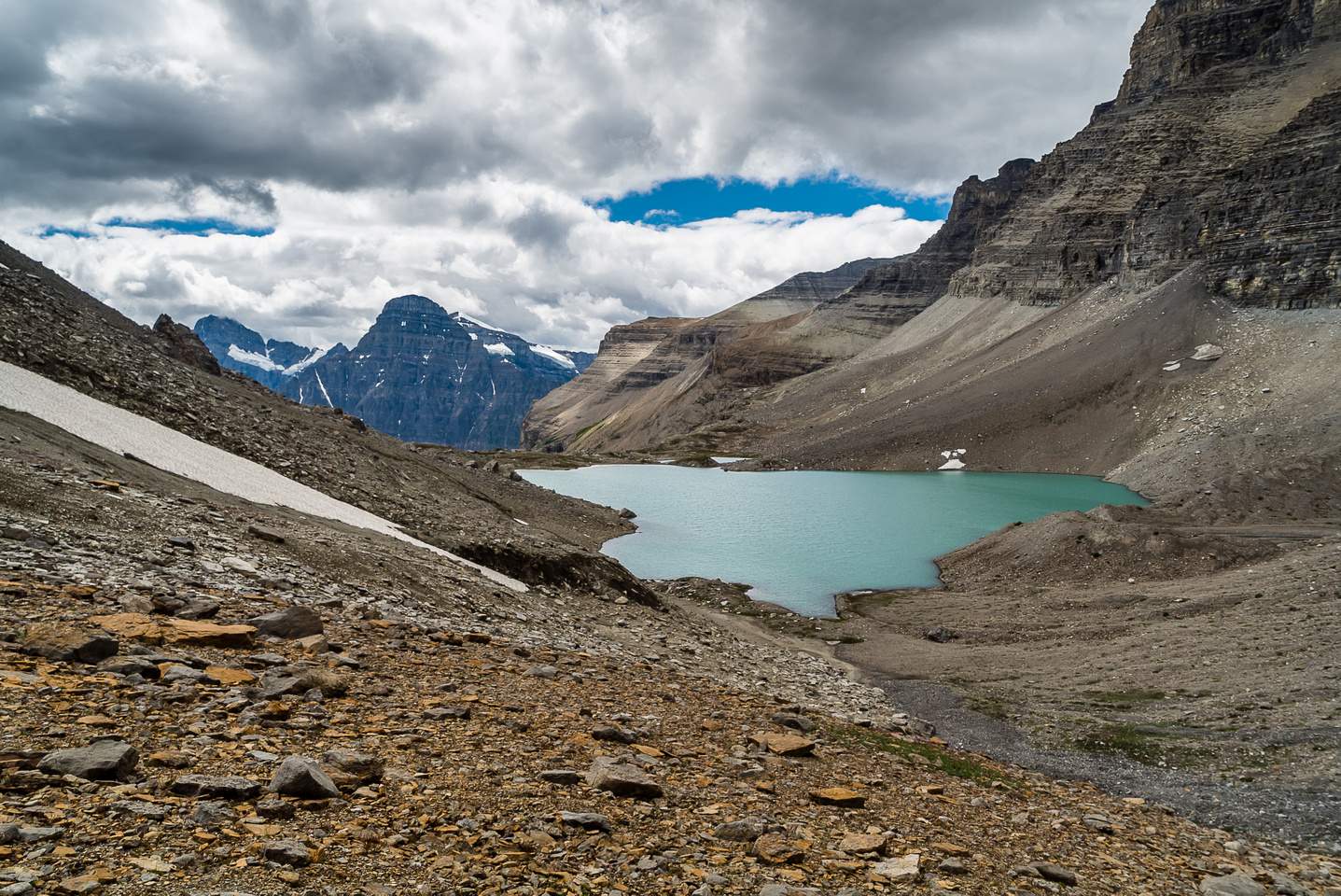 Looking back at the two Upper Totem Lakes.