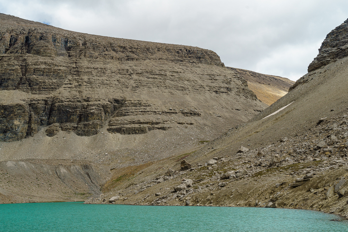 Looking at the gap that is our col beyond the Upper Totem Lake.