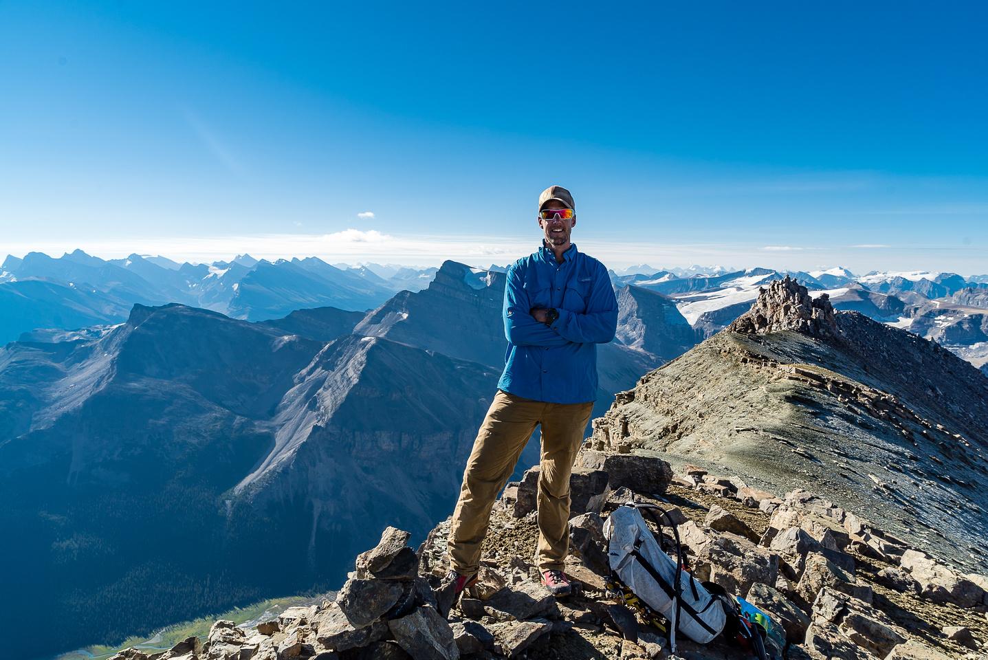 Vern on the summit of Marmota Peak.