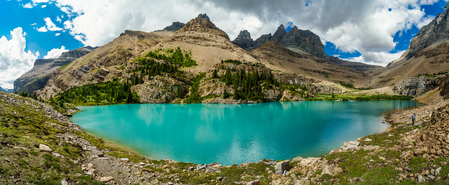 The gorgeous environs of Lower Totem Lake with towers of Murchison in the background.