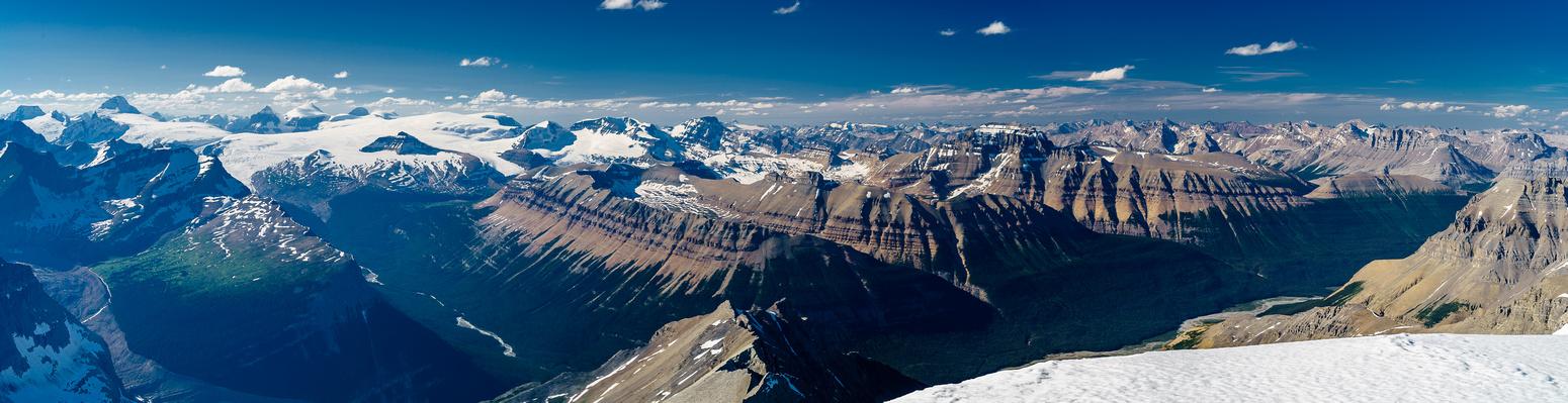 King Edward, Columbia, South Twin, North Twin, Alberta, Castleguard, Snow Dome, Andromeda, Terrace, Athabasca, Brazeau, Saskatchewan and Cirrus