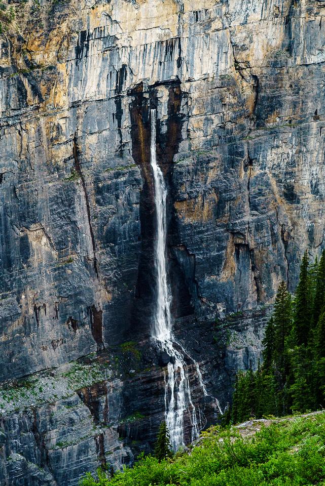 Telephoto of the same impressive waterfall.