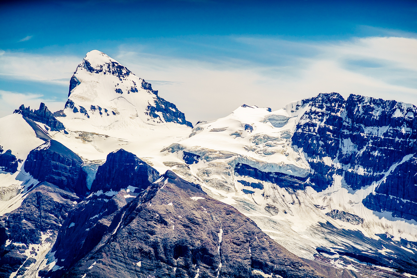 A gorgeous head-on view of the mighty 11,851 ft Mount Forbes - which I would climb in 2016, in perfect conditions.