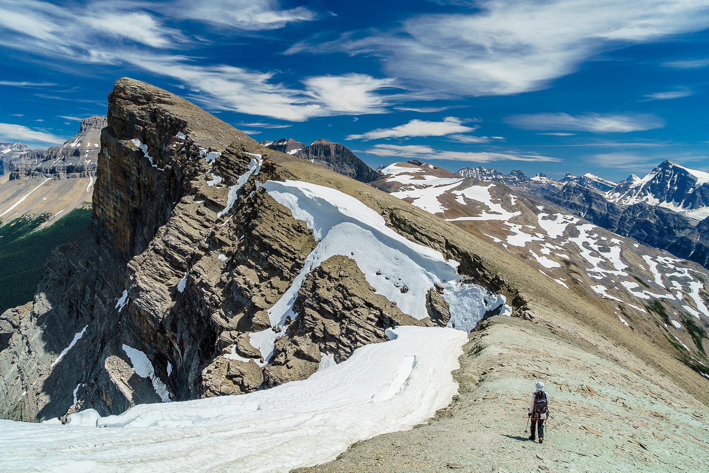 Finally on the last bit of ridge to the summit.