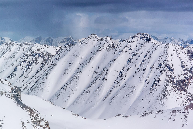 Panorama Ridge looms over Consolation Lakes.