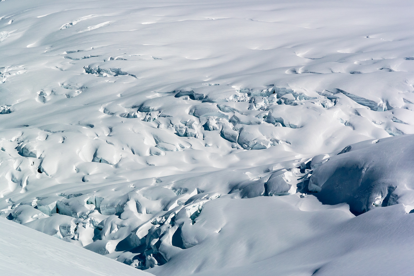 Looking back down the trench - this is the icefall we avoided by going further south before descending the trench.