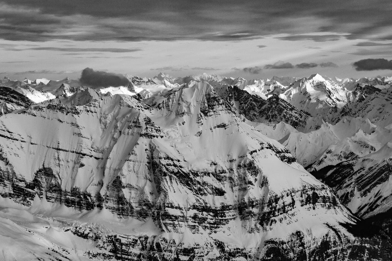 Mount Bryce's north face is a damn impressive aspect to climb - far beyond my reach!