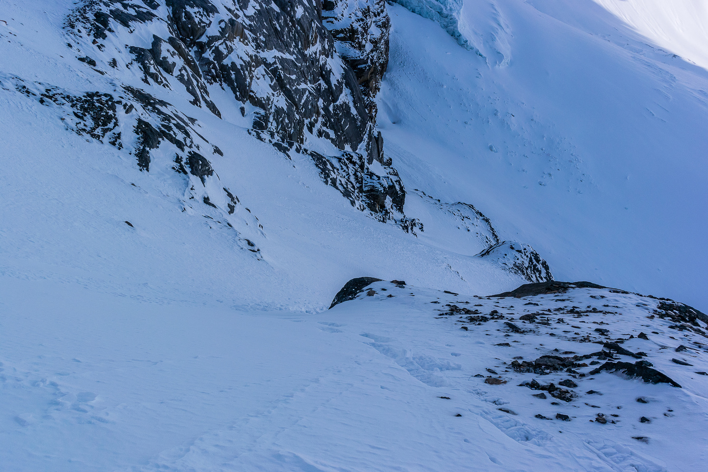 his is where a slide would take you over the headwall section.