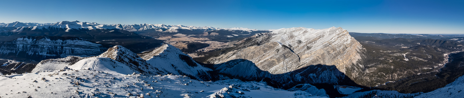 Summit pano with Eagle at right and Labyrinth at left.