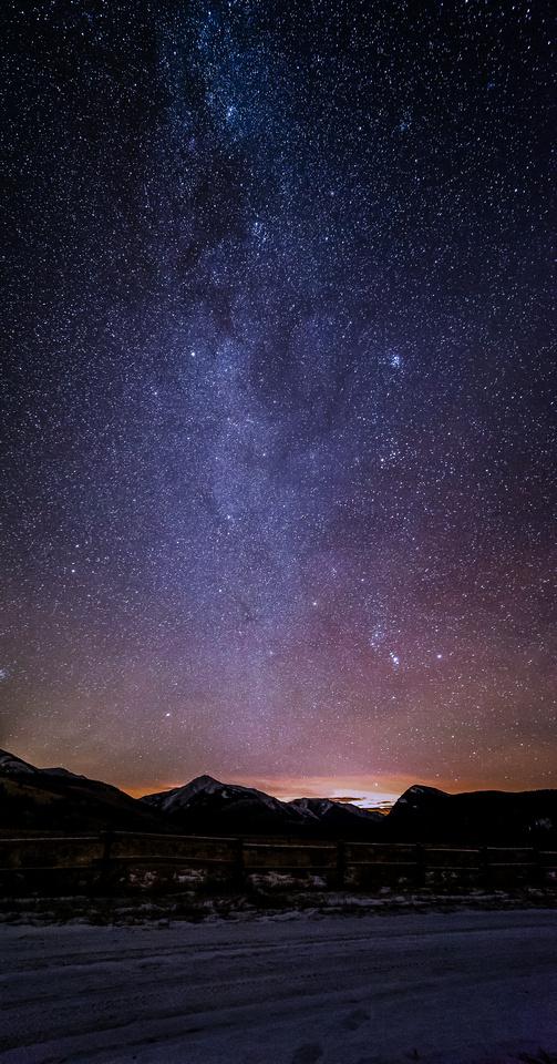 Milky Way over Big Horn Campground.