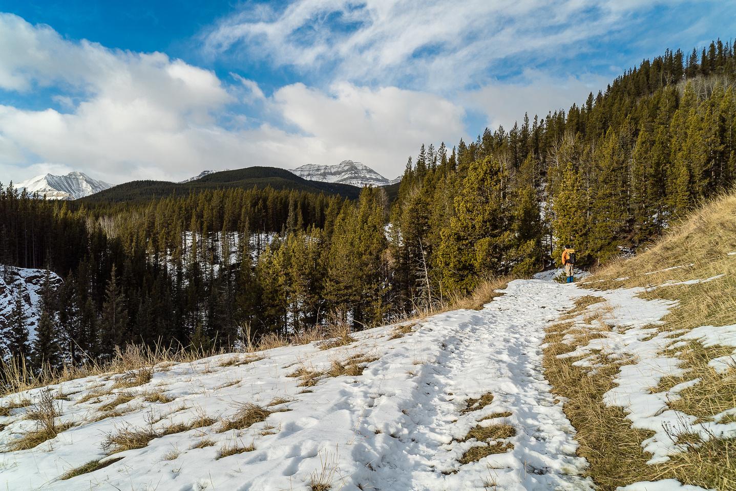 Pleasant hiking and views.