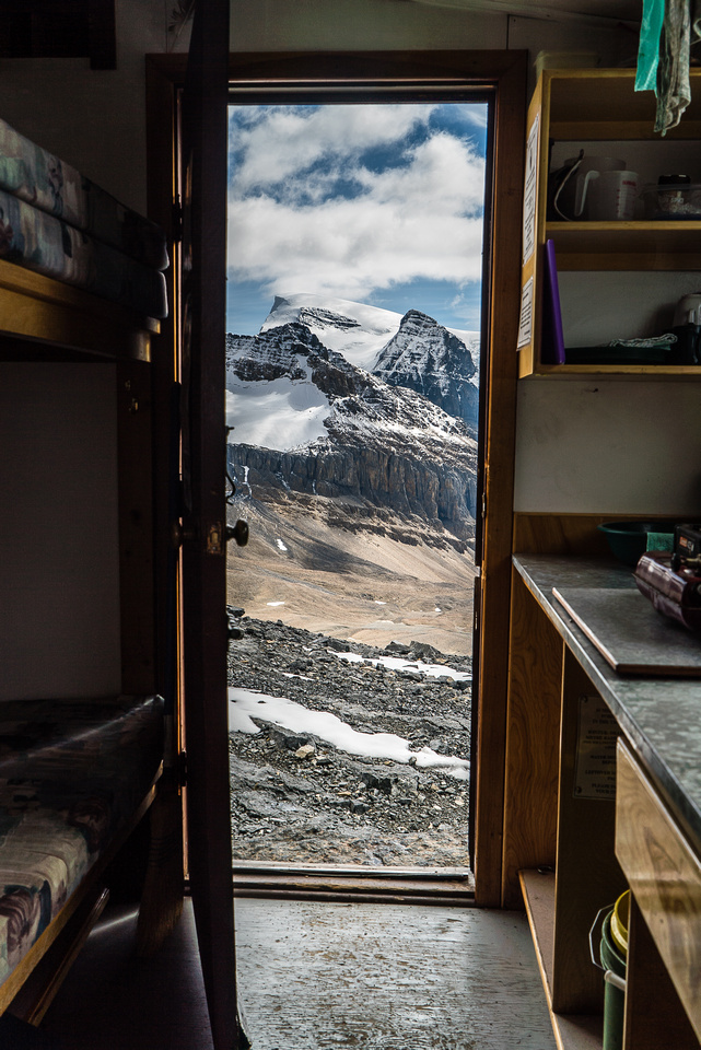 How many nervous feet have gone out this door on the great adventure that is climbing Mount Alberta?