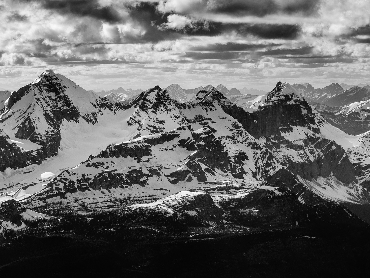 (L to R), Mount King George, Prince Albert, Prince George (foreground), Prince Edward, Prince Henry.