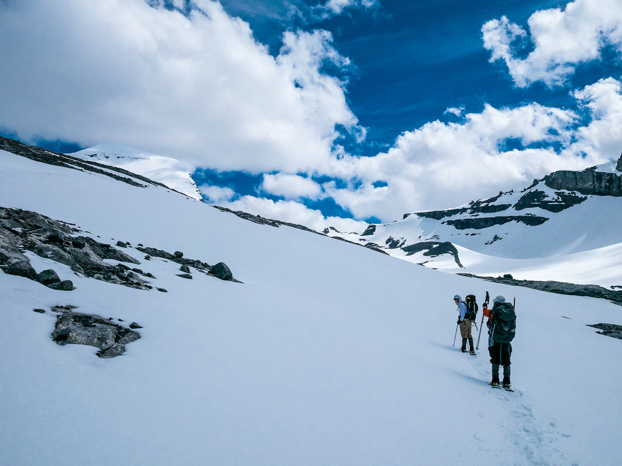"""We near the glacier and can finally see Joffre """"up close"""""""