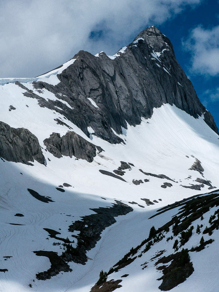 Mount Northover still gives me the jitters. I almost fell off after freezing at the crux.