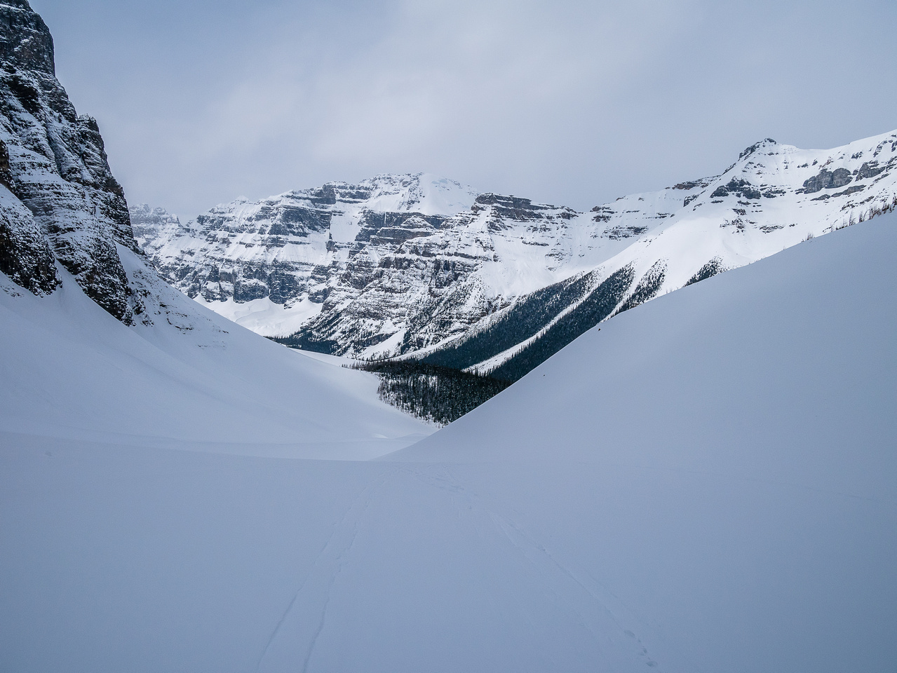 Skiing down was nice and quick - even with a typical Rockies spring crusty snow pack.