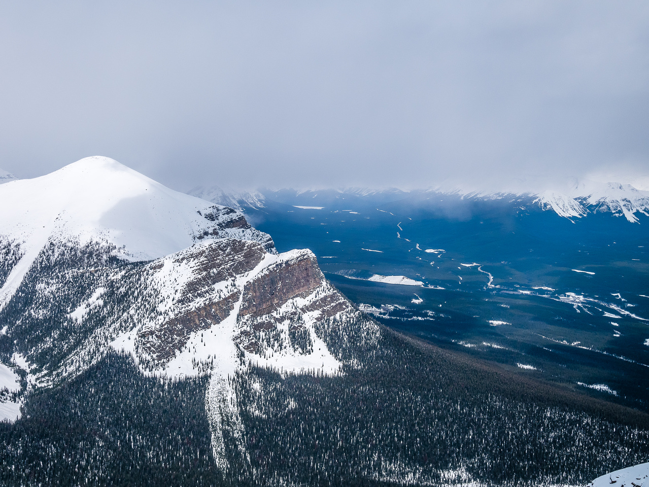 Looking over Mount Fairview.