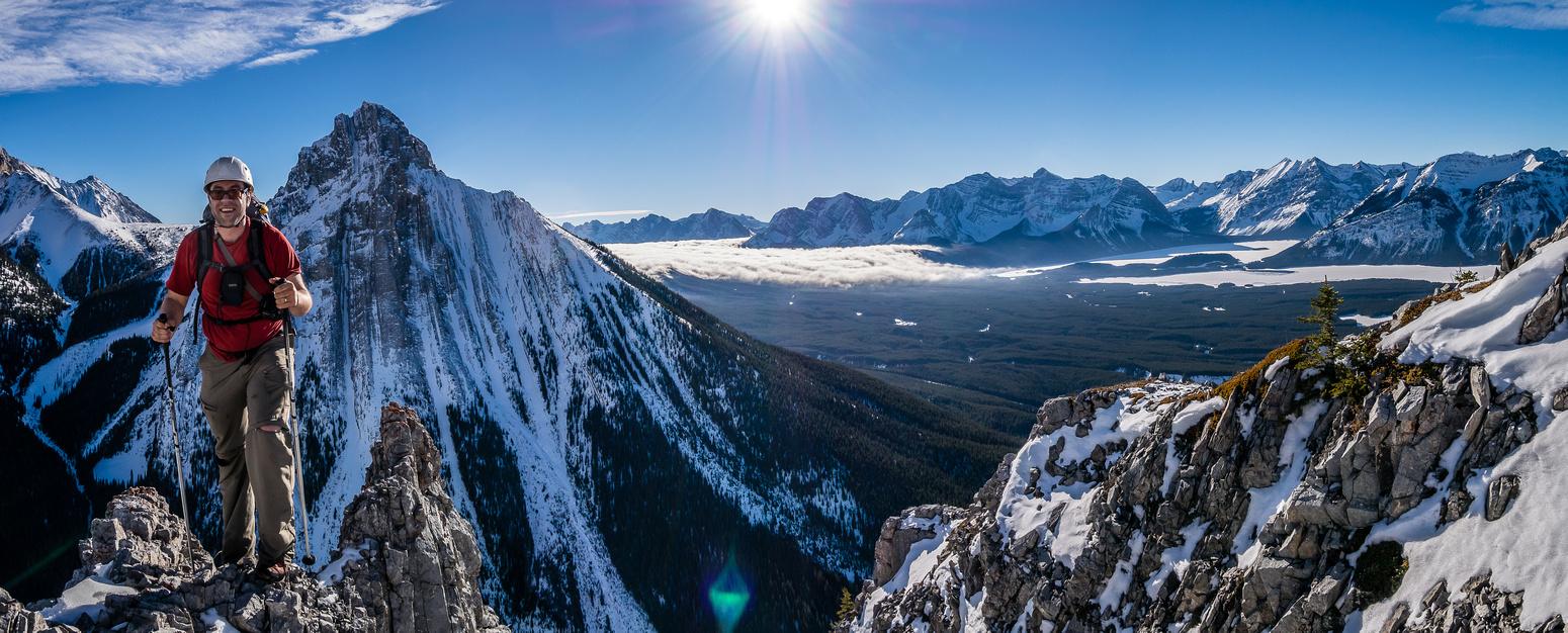 Eric comes up the ridge.