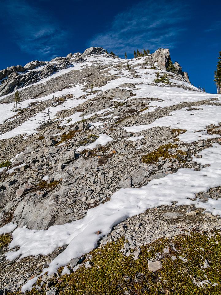 The dry south ridge of Opoca.