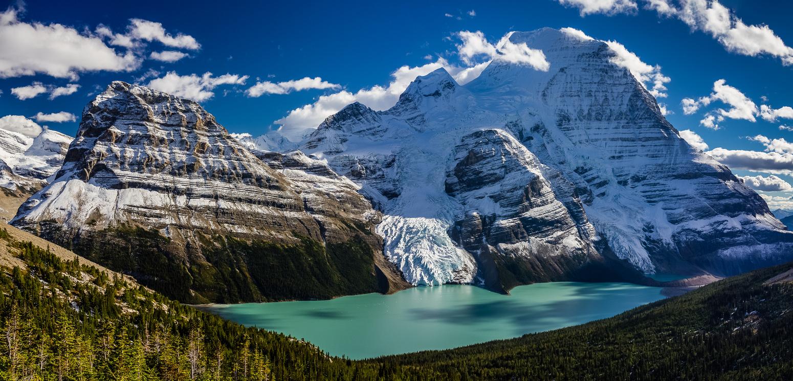 Berg Lake and Mount Robson.