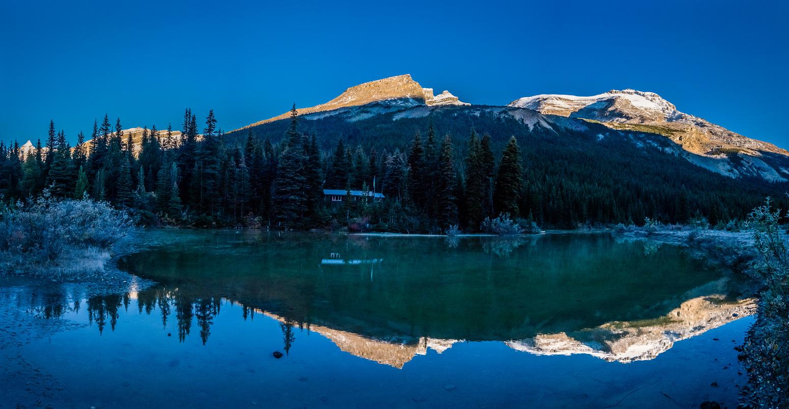 Berg Lake reflections.