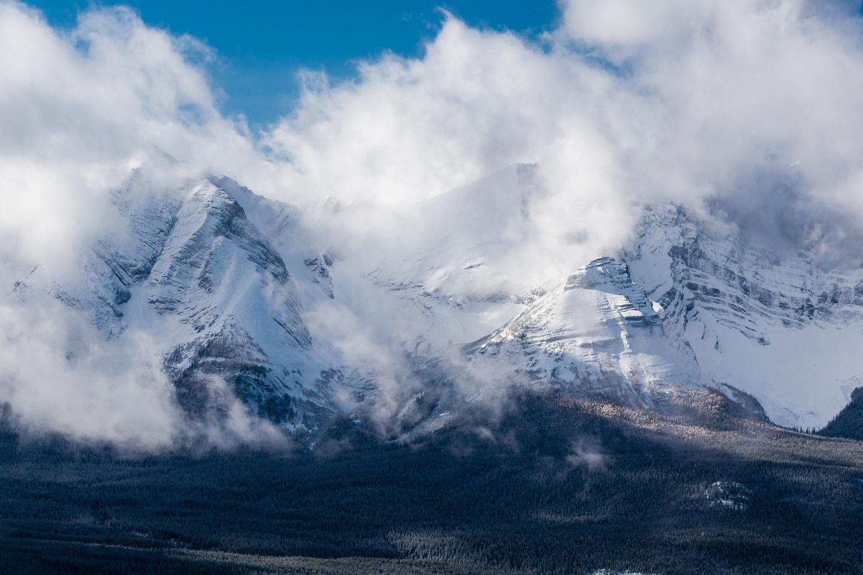 Mount Sarrail looms over Rawson Lake.