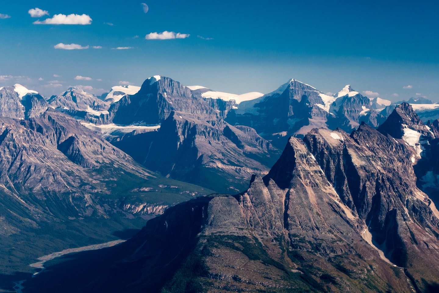 The Stutfields and Mount Alberta along with North and South Twin.