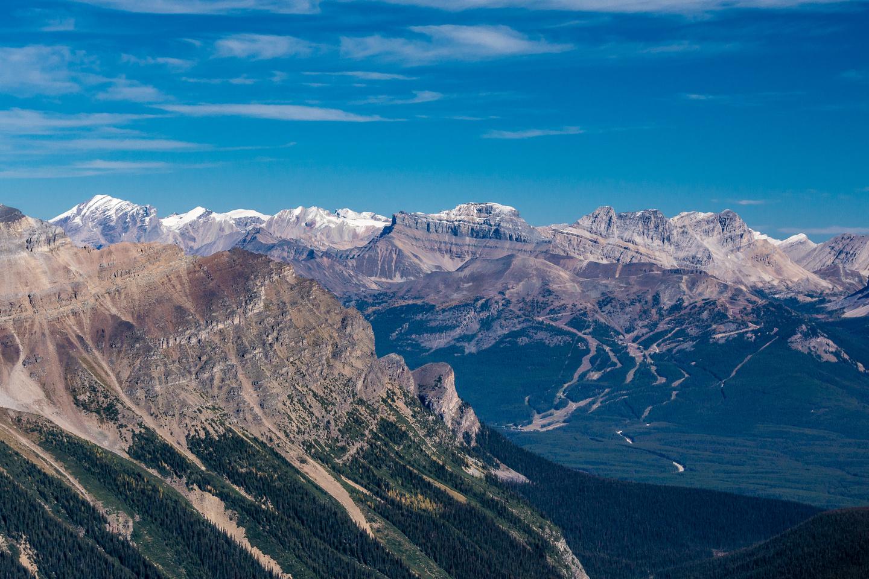 Looking across to the Skoki area peaks brings back good memories.