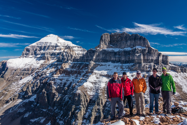 The boys on the summit.