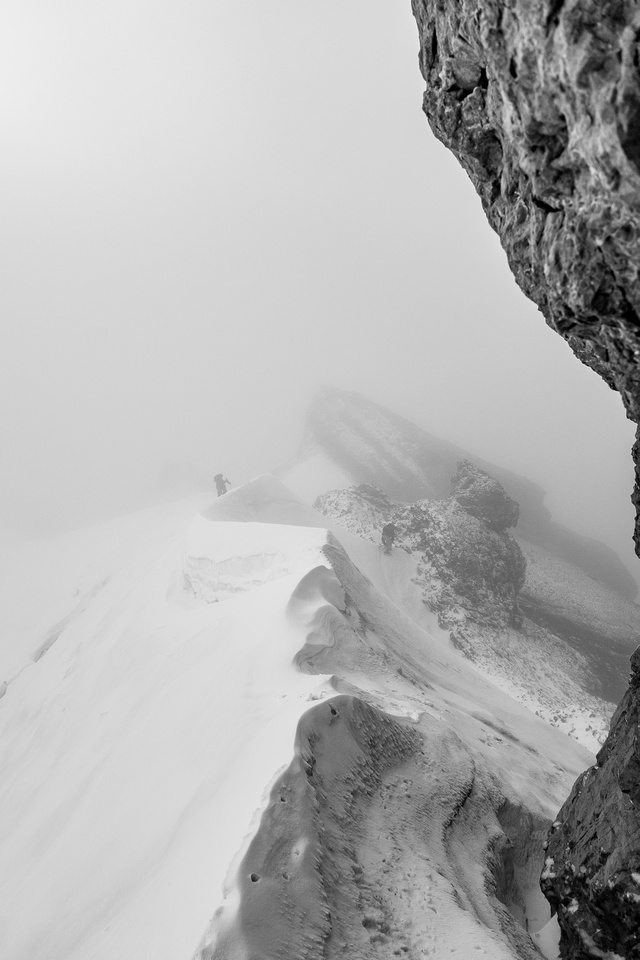 More foggy scenery from the south ridge ascent.